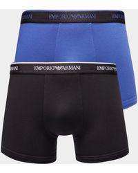 Emporio Armani - Mens 2-pack Boxer Shorts Black - Lyst