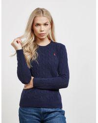 Polo Ralph Lauren - Womens Juliana Knitted Jumper Navy Blue - Lyst
