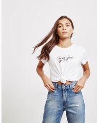 Tommy Hilfiger - Womens Star Script Short Sleeve T-shirt White - Lyst