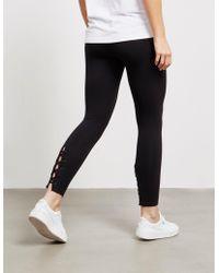 DKNY - Womens Lace Up Leggings Black - Lyst