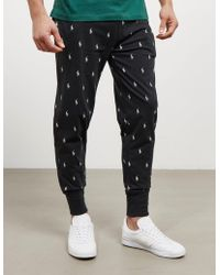Polo Ralph Lauren - Mens All Over Print Track Pants Black - Lyst