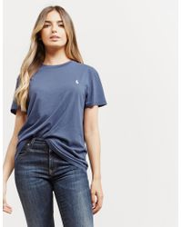 Polo Ralph Lauren - Womens Basic Pony Short Sleeve T-shirt - Online Exclusive Blue - Lyst