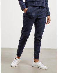 Polo Ralph Lauren - Womens Cropped Pinstripe Joggers Navy Blue - Lyst