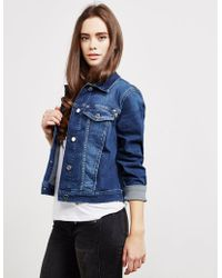 Love Moschino - Womens Heart Denim Jacket Blue - Lyst