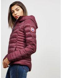 Canada Goose - Womens Brookvale Padded Hooded Jacket Red - Lyst