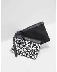 Michael Kors - Womens Duo Travel Pouch - Online Exclusive Black - Lyst