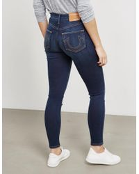 True Religion - Womens High Rise Super Skinny Jeans Blue - Lyst