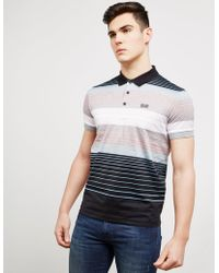 BOSS - Mens Paddy Stripe Short Sleeve Polo Shirt Black - Lyst