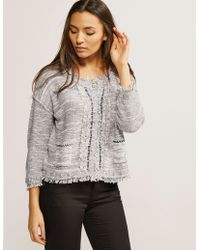 Armani Jeans - Knitted Jacket - Lyst