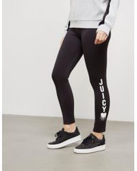 Juicy Couture - Womens Heart Leggings - Online Exclusive Black - Lyst