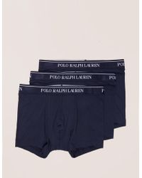 Polo Ralph Lauren - Mens 3-pack Boxer Shorts Navy Blue - Lyst