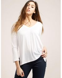 Polo Ralph Lauren - Womens Three Quarter Sleeve Sloch Top White - Lyst