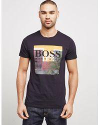 BOSS - Mens Palm Short Sleeve T-shirt Black - Lyst