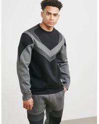 Neil Barrett - Mens Biker Sweatshirt Grey - Lyst