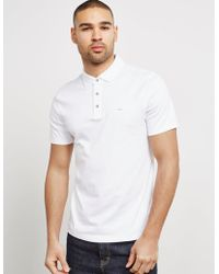 Michael Kors - Mens Sleek Short Sleeve Polo Shirt White - Lyst