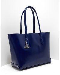 Vivienne Westwood - Womens Sarah Large Shopper Bag Blue - Lyst