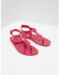 Michael Kors - Womens Jelly Plate Sandals - Online Exclusive Pink - Lyst