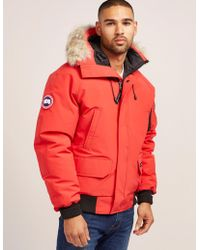 Canada Goose - Mens Chilliwack Padded Bomber Jacket Red - Lyst