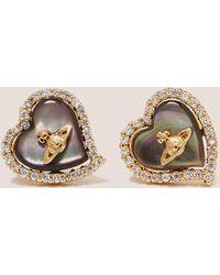 Vivienne Westwood - Womens Leotyne Heart Earrings Gold - Lyst