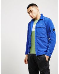 C P Company - Mens Chrome Overshirt Blue - Lyst