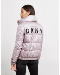 DKNY - Womens Down Filled Jacket Pink - Lyst