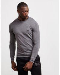 f1f86da262 BOSS - Rimex Knitted Jumper Grey - Lyst