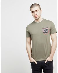 Replay - Mens Floral Pocket Short Sleeve T-shirt Green - Lyst