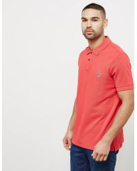 PS by Paul Smith - Mens Zebra Short Sleeve Polo Shirt Red - Lyst