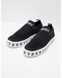 DKNY - Womens Brea Slip On Trainers Black - Lyst