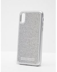 Michael Kors - Womens Iphone X Phone Cover - Online Exclusive Silver - Lyst