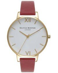 Olivia Burton - Big Dial White Dial Watch - Lyst