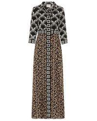 Hayley Menzies - Bettina Shirt Dress Camel & Black - Lyst