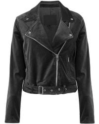 PAIGE - Shanna Velvet Biker Jacket - Lyst