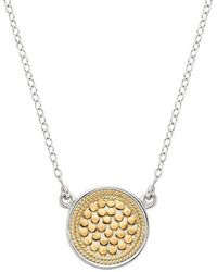 Anna Beck - Gili Reversible Disc Pendant Necklace - Lyst
