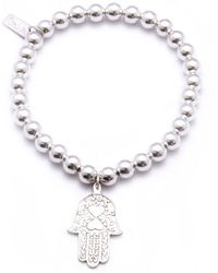ChloBo - Small Ball Bracelet With Hamsa Hand Charm - Lyst