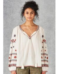 Star Mela - Rilla Embroidered Blouse - Lyst