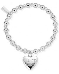 ChloBo - Mini Small Ball Bracelet With All My Love Charm - Lyst