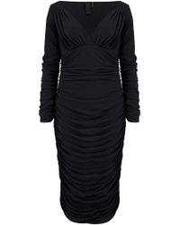 Norma Kamali - Tara Long Sleeve Dress - Lyst