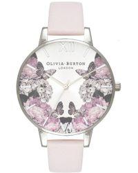 Olivia Burton - Signature Florals Big Dial Watch - Lyst