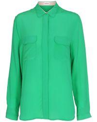 Custommade• - Athalie Silk Shirt - Lyst