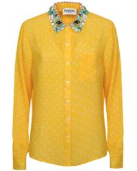Essentiel | Proud Embellished Collar Shirt | Lyst