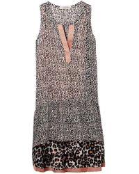 Maison Scotch - Mixed Animal Print Dress - Lyst
