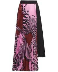 Beatrice B. - Zebra Pleated Skirt - Lyst