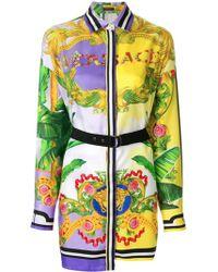 Versace - Printed Shirt Dress - Lyst