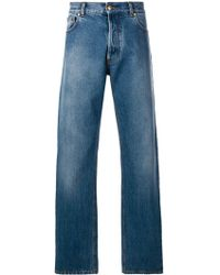 Versace - baggy Straight Jeans - Lyst