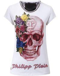 """Philipp Plein - T-shirt Round Neck Ss """"let Me Dance"""" - Lyst"""