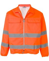 Gcds - Neon Orange Jacket With Reflective Details - Lyst