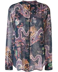 Isabel Marant - Daws Metallic Printed Shirt - Lyst