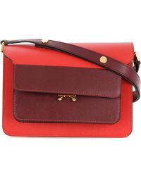 a8e8923f8b3 Marni Trunk Shoulder Bag in Red - Lyst