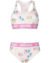21d012b2af56 Moschino My Little Pony-print Stretch-cotton Cropped Top And Briefs ...